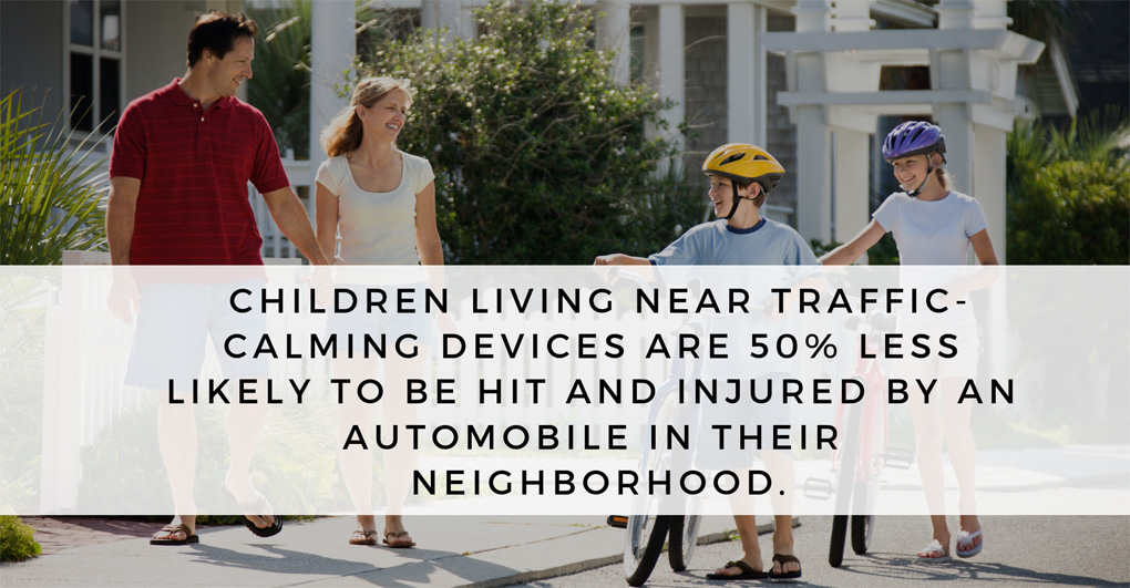 children living near traffic-calming devices are safer