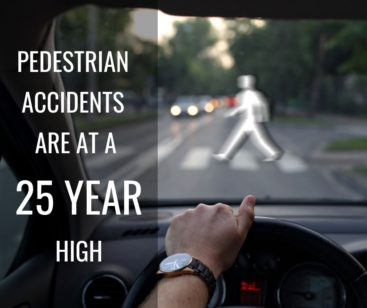 pedestrian accidents are at a 25 year high
