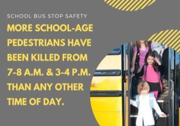 More school-age pedestrians have been killed from 7 a.m. to 8 a.m. and from 3 p.m. to 4 p.m. than any other time of day,
