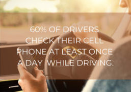 distracted driver checking cell phone